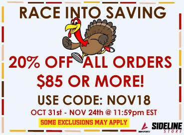 Enter Promo Code NOV18 October 31st through November 24th and save 20% off $85.00 at Rams online store