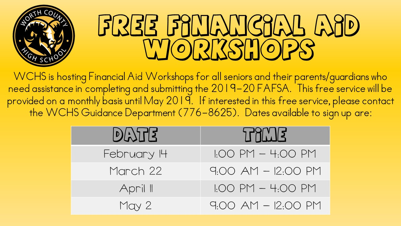 Free Financial Aid Workshop