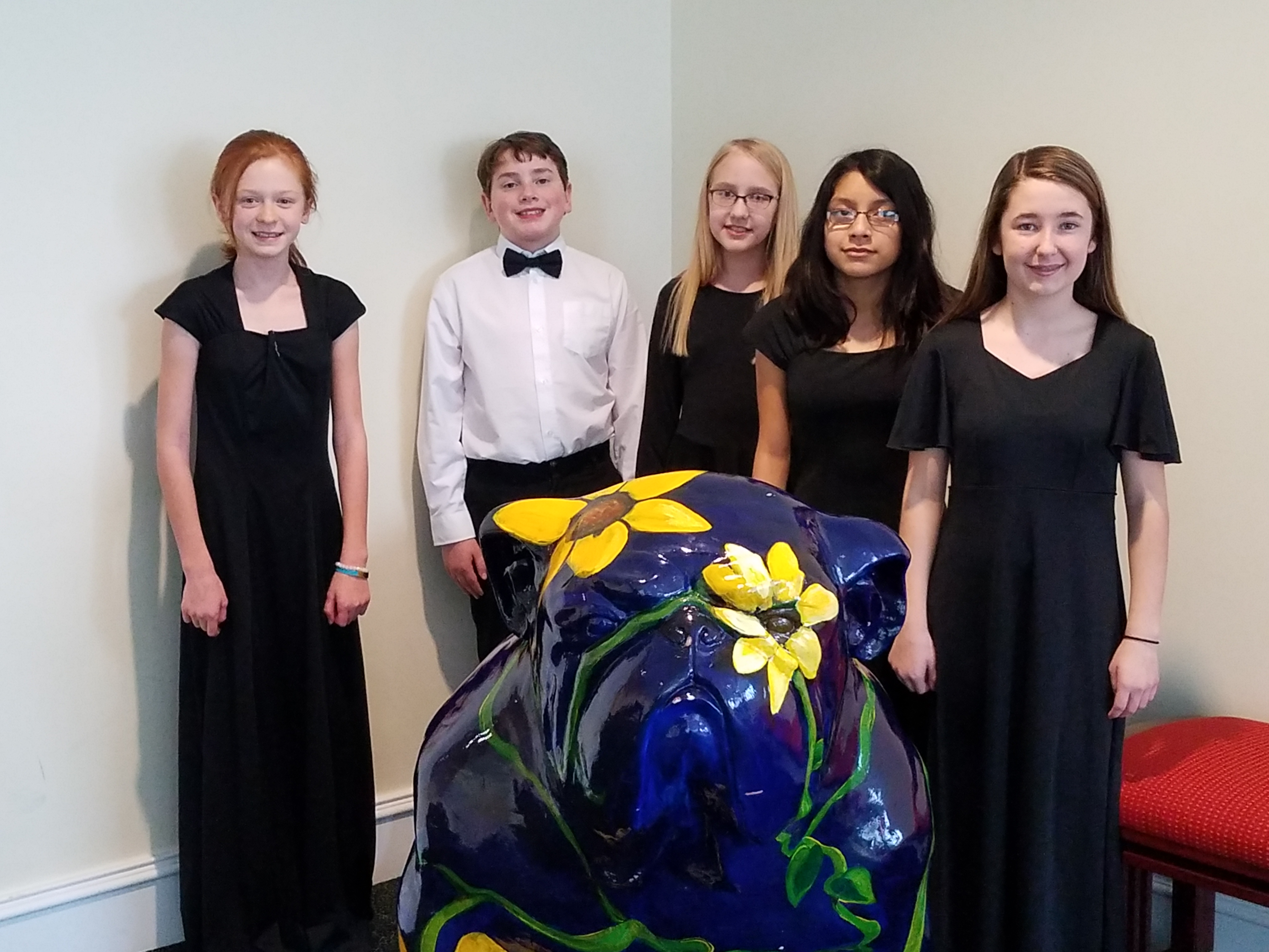 Five Students from WCMS Attending the GMEA Statewide 6th Grade Honor Chorus