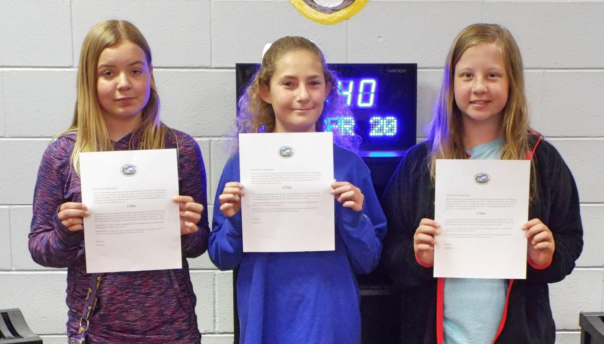 WCMS If I were mayor essay contest winners 2017