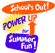 School's Power Up for Summer Fun Logo