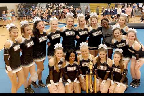 WCHS Competition Cheerleaders Take Home First Place