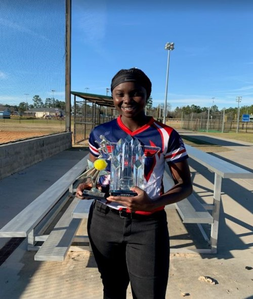 WCMS Softball Player wins Top Gun top 40 Competition