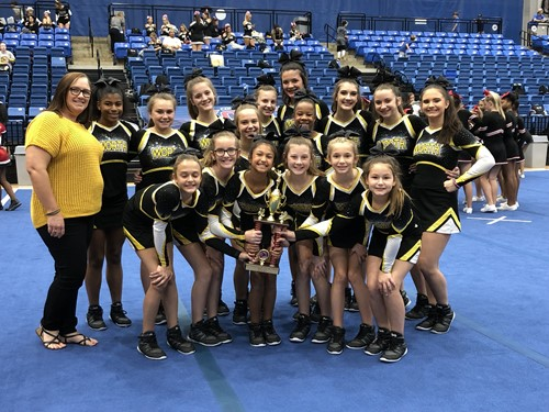 WCMS Competition Cheer Columbus Invitational 2nd Place