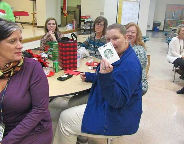 Staff had fun at the Dirty Santa Christmas Party.