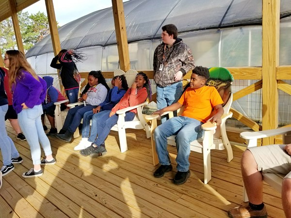 WCMS Visits The Village Community Garden