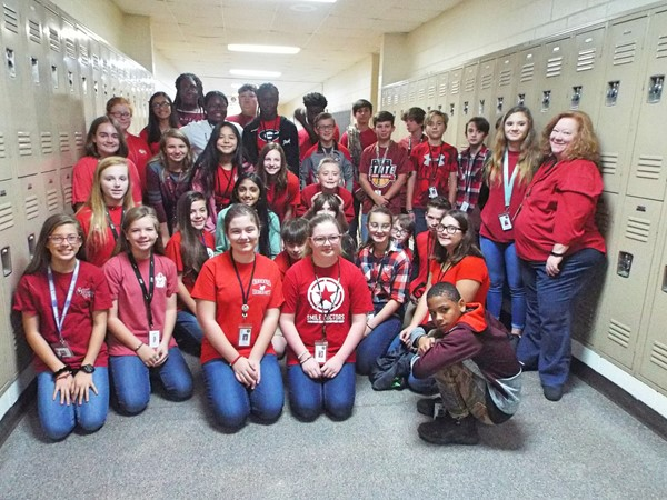 WCMS wore red to kick off Red Ribbon Week.