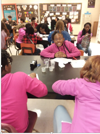 Mrs. Easom's Class along with Mrs. Trina Green 