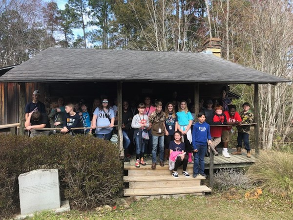 Students in Mrs. Parten's and Mrs. Weaver's homerooms traveled to Okefenokee Swamp Park.