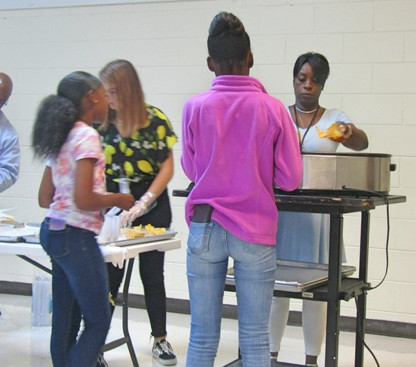 Students enjoyed nachos and cheese at the final PBIS Reward Break.