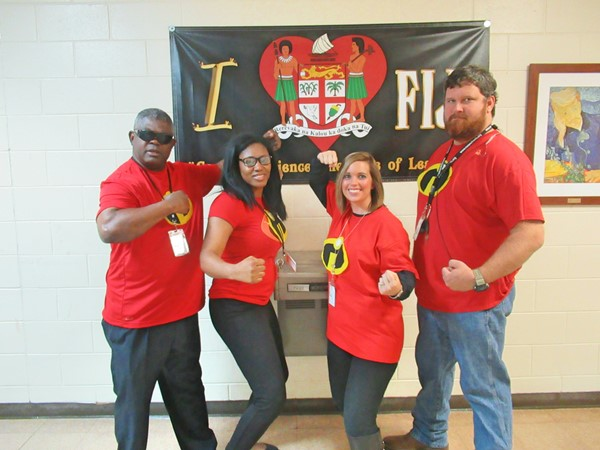 Red Ribbon Week - Wednesday -  Super Hero Staff