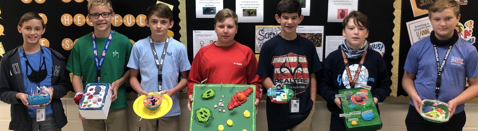 7th Grade 3D Cell Projects