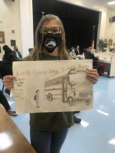 KEnglish 2nd Place Bus Safety Poster Contest