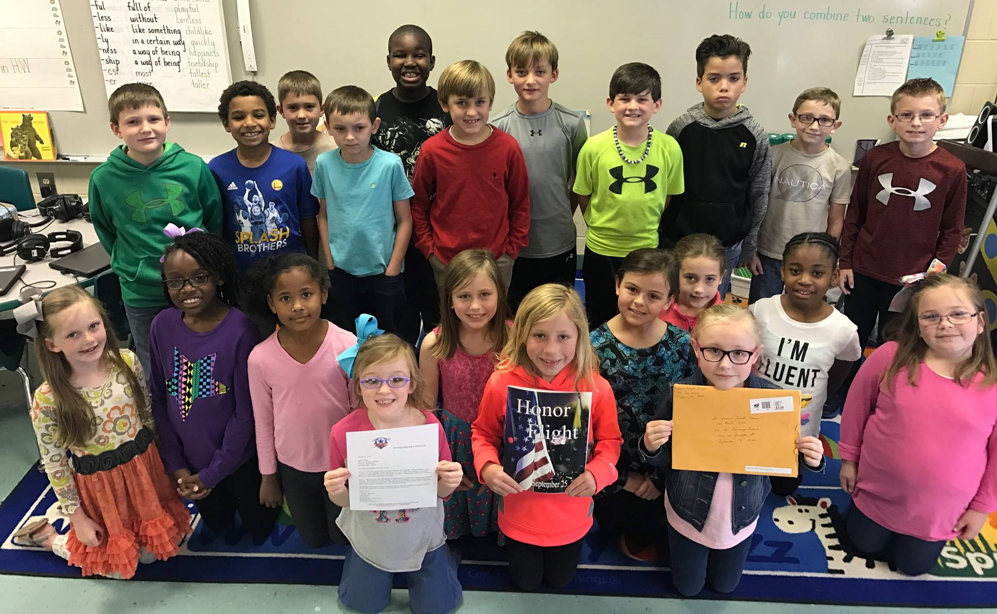 WCPS students send thank you letters to veterans