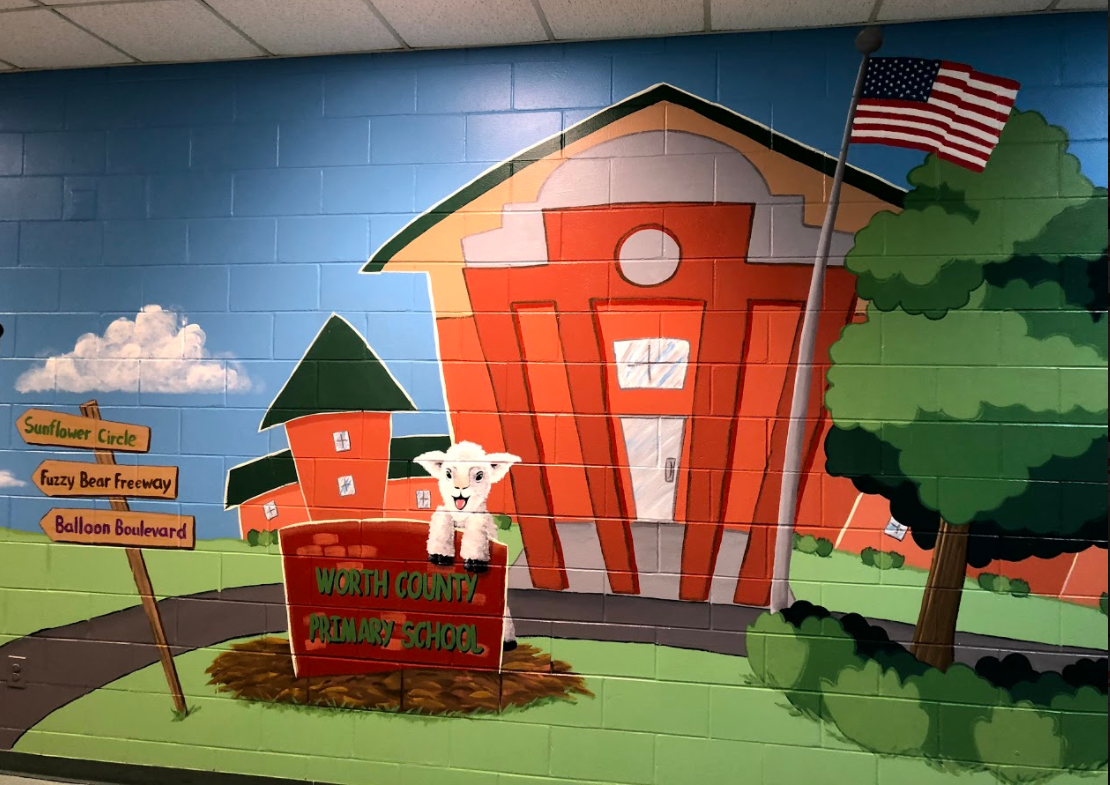 WCPS Open Building Night Painting Wall Mural