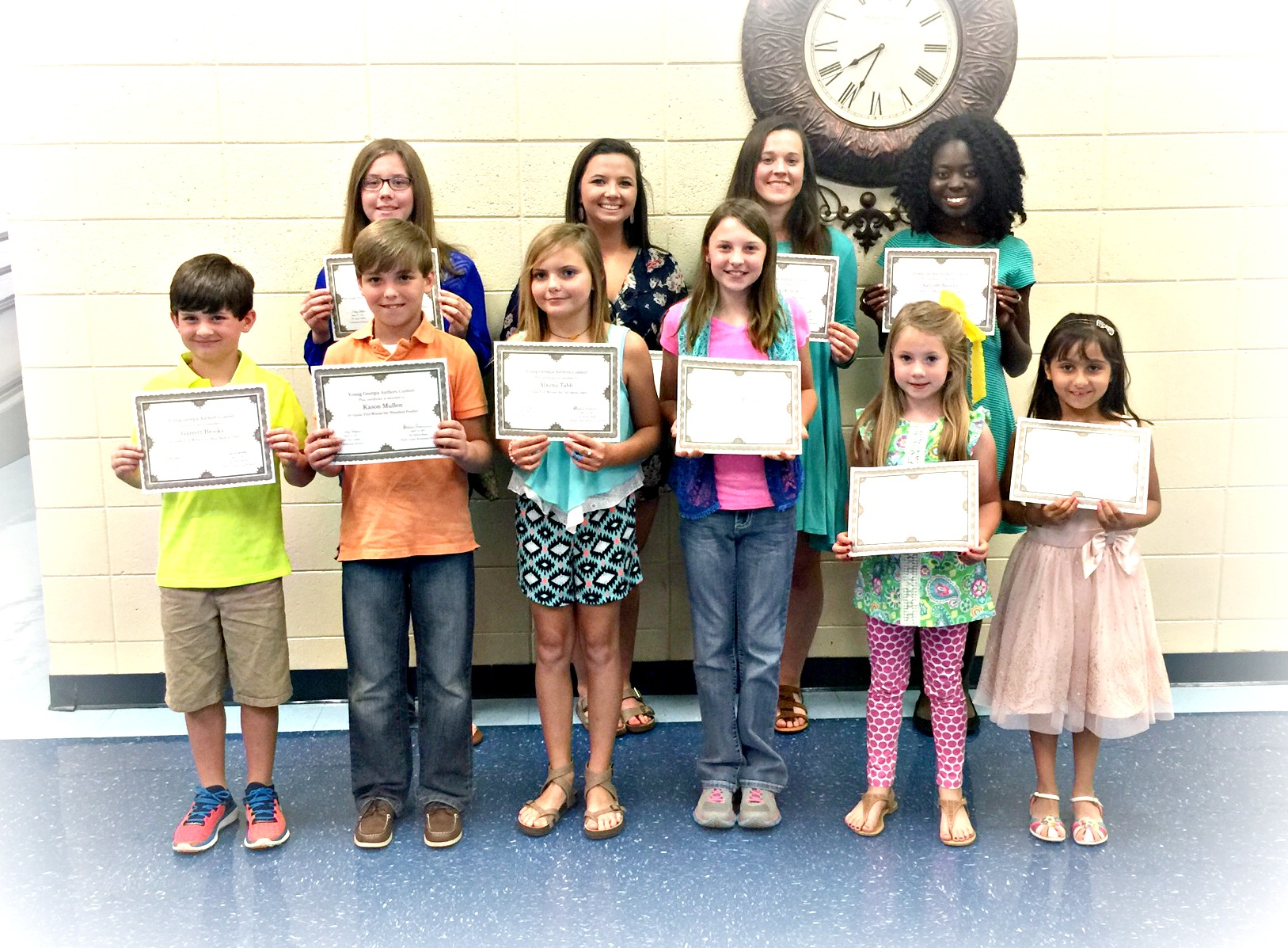 Young Ga Authors Grade Level Winners
