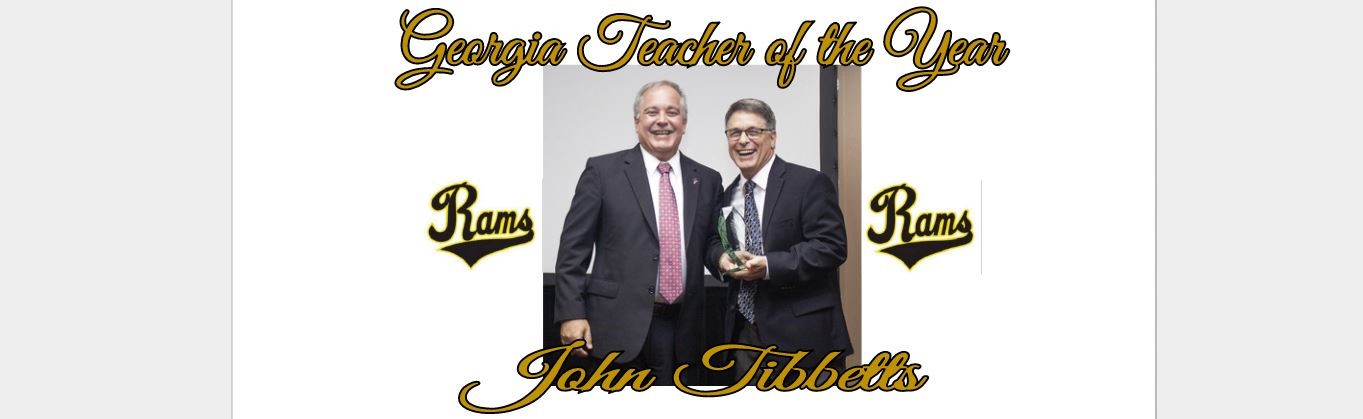 Georgia Teacher of the Year, John Tibbbetts